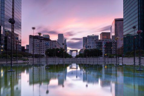 Fontaine de l'Esplanade de la Défense © David Briard