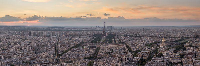 Vue panoramique de Paris et la Défense © David Briard