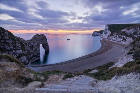 Durdle Door au coucher du soleil © David Briard