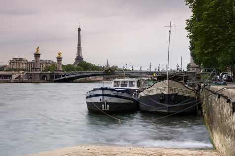 Bateaux amarrés sur la Seine © David Briard