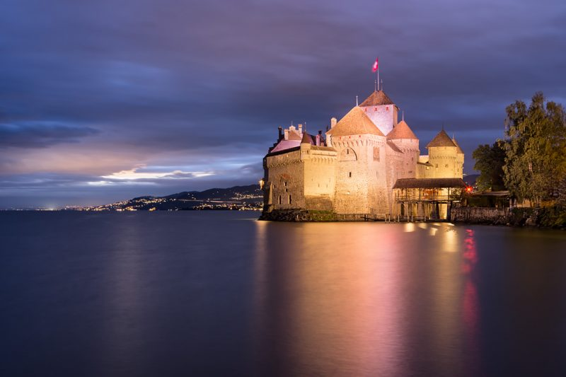 Le Château de Chillon illuminé © David Briard