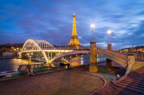 Passerelle Debilly et Tour Eiffel de nuit © David Briard