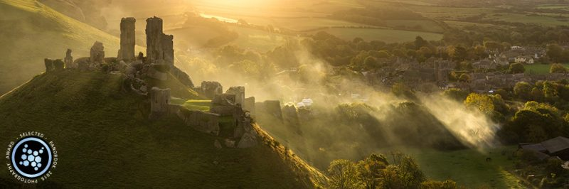 Corfe Castle photo by David Briard awarded in Panobook 2015 photo contest.