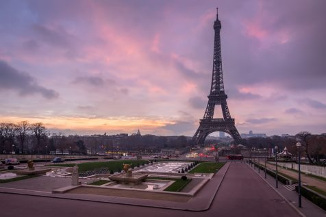 Eiffel Tower at sunrise © David Briard