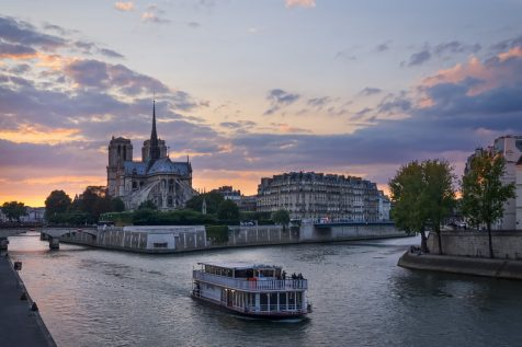 Coucher de soleil sur Notre-Dame © David Briard