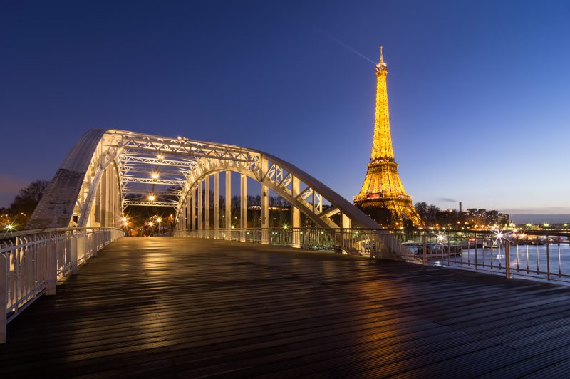 La Tour Eiffel depuis la passerelle Debilly © David Briard