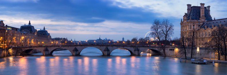 Le Pont Royal au crépuscule © David Briard