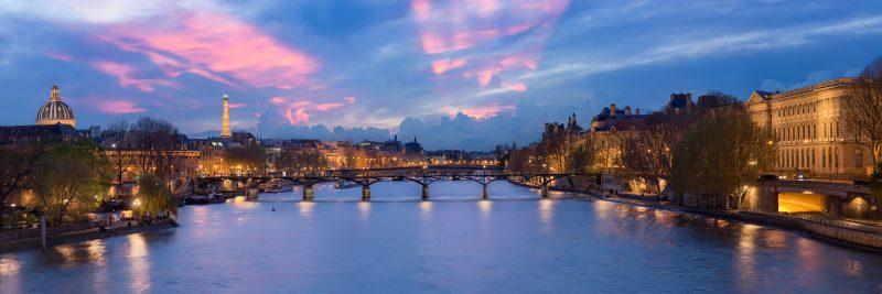 Le Pont des Arts au crépuscule © David Briard