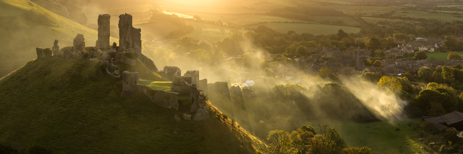 Corfe Castle by David Briard