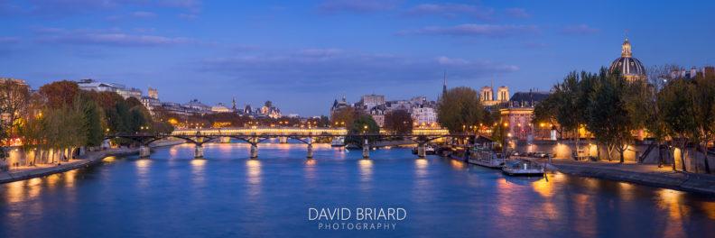 Pont des Arts à l'heure bleue © David Briard