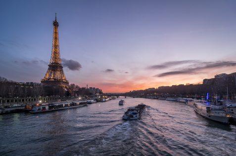Tour Eiffel au coucher du soleil © David Briard