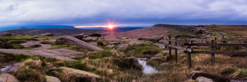 Stanage Edge Sunset © David Briard