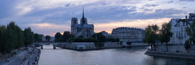 Notre-Dame at blue hour © David Briard