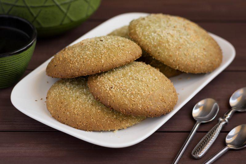 Cookies au thé matcha et noix de coco © David Briard
