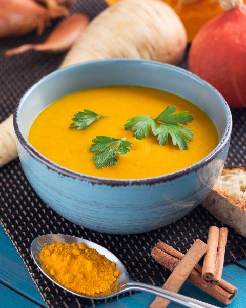 Soupe potimarron et panais © David Briard