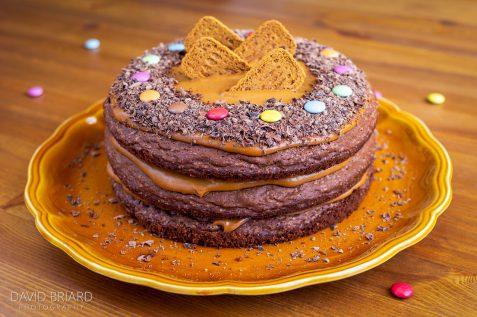 Layer cake chocolat-speculos © David Briard